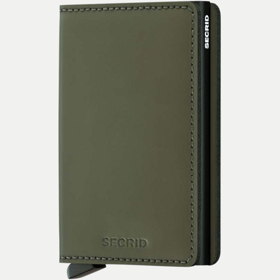 SLIMWALLET - Sm Vintage Slim Wallet - Accessories - MATTE GREEN - 1